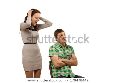 Woman trying to talk with her unresponsive boyfriend Stock photo © photography33