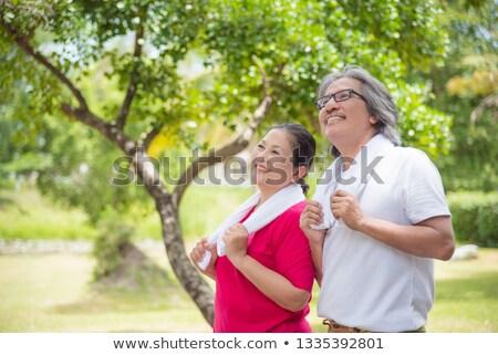 ślub · para · trawy · piękna · odkryty - zdjęcia stock © luminastock