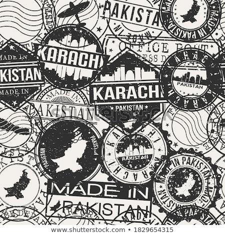 Post stempel Pakistan afgedrukt fort kunst Stockfoto © Taigi