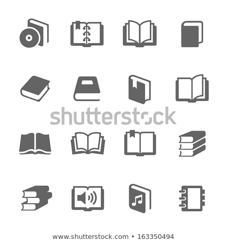 Vector icon cds and diary Stock photo © zzve