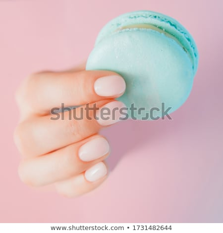 beautiful woman polishing nails Stock photo © chesterf