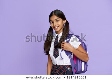прелестный девушки студию фото девочку серый Сток-фото © taden