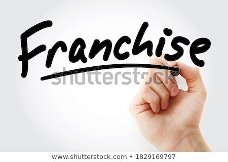 Franchising. Business Background. Stock photo © tashatuvango
