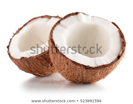 ココナッツ · 孤立した · 白 · 自然 · フルーツ · 夏 - ストックフォト © escander81