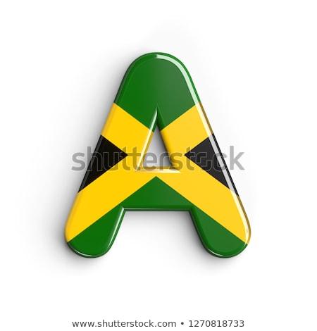 3D karakter mintázott zászló Jamaica izolált Stock fotó © Kirill_M