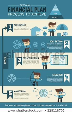 Infographics to describe the process. Stock photo © m_pavlov