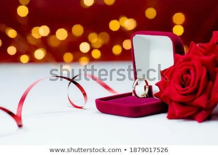 розовый · цветочный · карт · два · сердцах · цветок - Сток-фото © wad