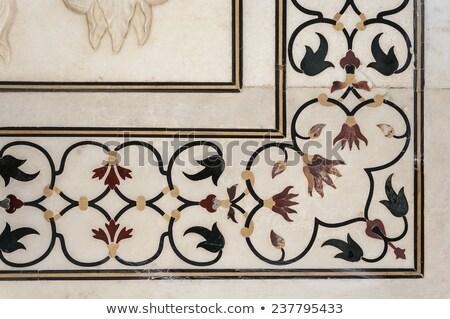 India - Marble stone work detail Stock photo © danielgilbey