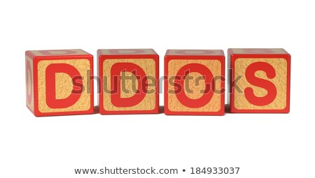DDOS - Colored Childrens Alphabet Blocks. Stock photo © tashatuvango