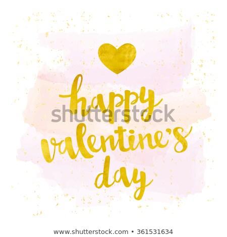 Gold Valentine Card Stock photo © derocz