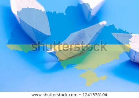 ウクライナ 小 フラグ 地図 選択フォーカス 背景 ストックフォト © tashatuvango