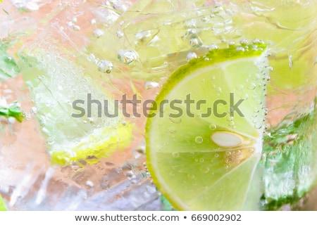 Close up fresh homemade iced lemon juice soda  Stock photo © punsayaporn