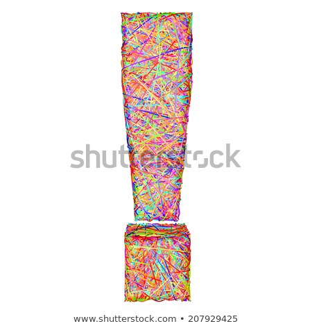 Exclamation Mark Composed Of Colorful Striplines Isolated On White Photo stock © oneo