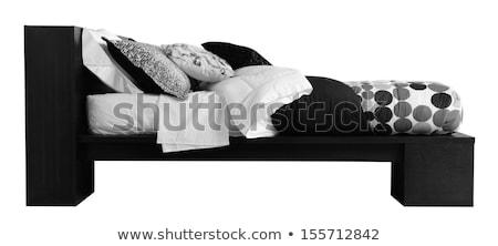 кровать покрытый мягкой подушкой фон Сток-фото © karammiri