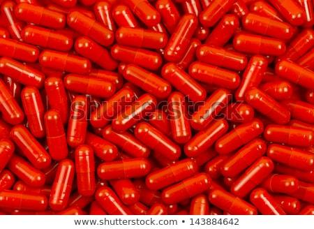 красный розовый капсулы белый таблице Сток-фото © Melpomene