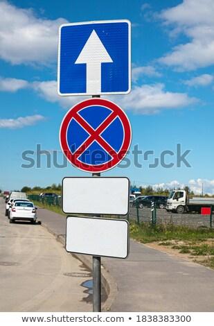 Safety Inscription on Red Billboard. Stock photo © tashatuvango