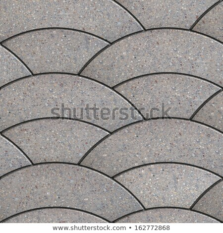 Gray Paving Stone in Wavy Form. Stock photo © tashatuvango