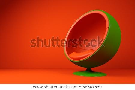 Vermelho cadeiras verde esfera globo reunião Foto stock © guffoto