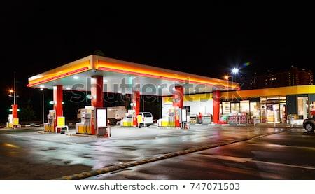 Stacji benzynowej drogowego stylizowany starych autostrady Zdjęcia stock © tracer