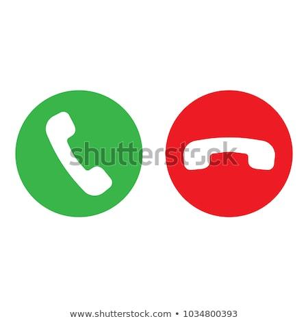 Telefonu retro ikona szary kolory biuro Zdjęcia stock © aliaksandra