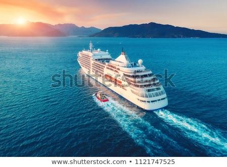 Okyanus arka gemi karşı seyahat Stok fotoğraf © pumujcl