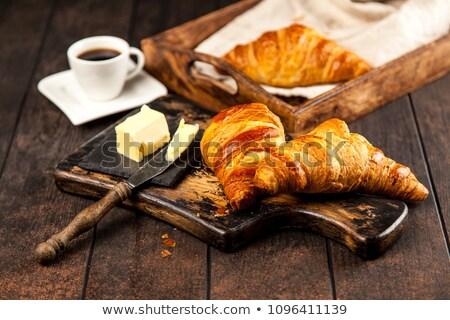 Bread and black coffee Stock photo © olandsfokus