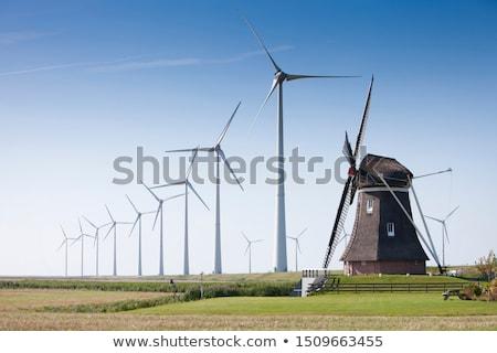 Modern windmills Stock photo © HASLOO
