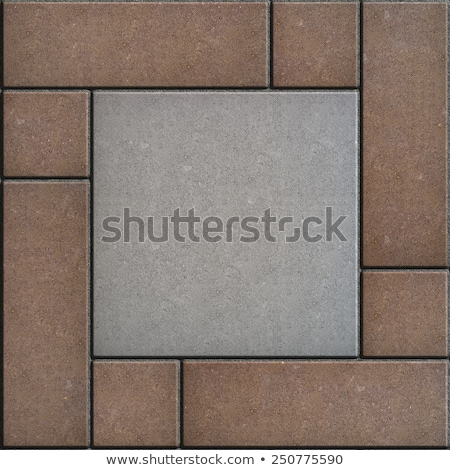 Gray Figured Paving Slabs as Rectangles and Squares. Stock photo © tashatuvango