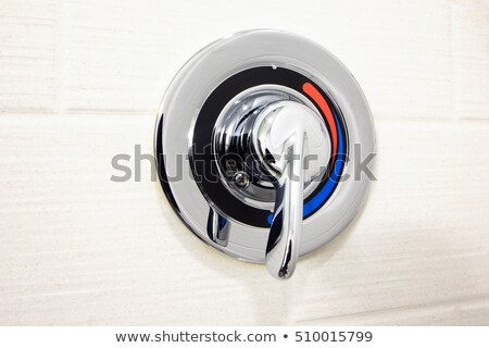 Close-Up of Cold Water Faucet Handle Stock photo © iofoto