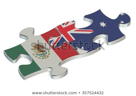 Австралия · Мексика · флагами · головоломки · вектора · изображение - Сток-фото © Istanbul2009