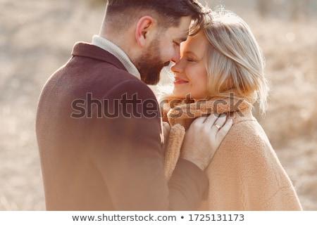 pár · portré · gyönyörű · gyengéd · fekete · romantikus - stock fotó © Anna_Om