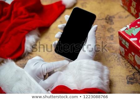 Święty · mikołaj · ręce · człowiek · ramki - zdjęcia stock © wavebreak_media