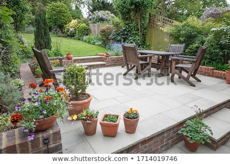 big english garden with patio Stock photo © compuinfoto