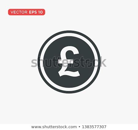 фунт знак красный вектора икона дизайна Сток-фото © rizwanali3d
