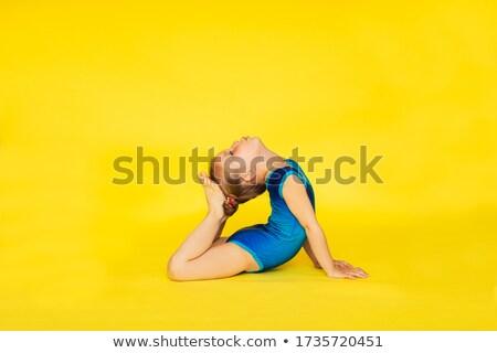若い女の子 体操選手 スーツ 立って 孤立した 白 ストックフォト © deandrobot