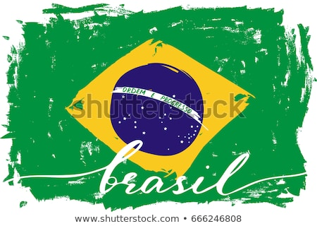 Brasil flag on shirt Stock photo © fuzzbones0