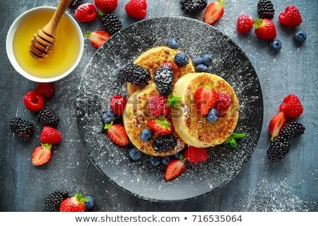 Crumpets and honey Stock photo © artistrobd