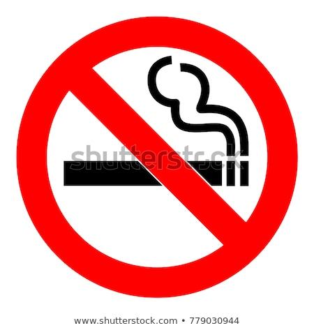 Dohányozni tilos felirat piros vektor ikon terv Stock fotó © rizwanali3d