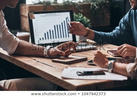 Números empresario ganancias hombre trabajo Foto stock © alphaspirit