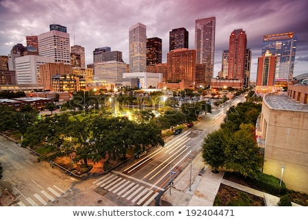 Houston · Teksas · mavi · binalar · gökdelen · şehir - stok fotoğraf © lunamarina