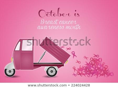 розовый автомобилей Рак молочной железы предотвращение иллюстрация женщину Сток-фото © sognolucido
