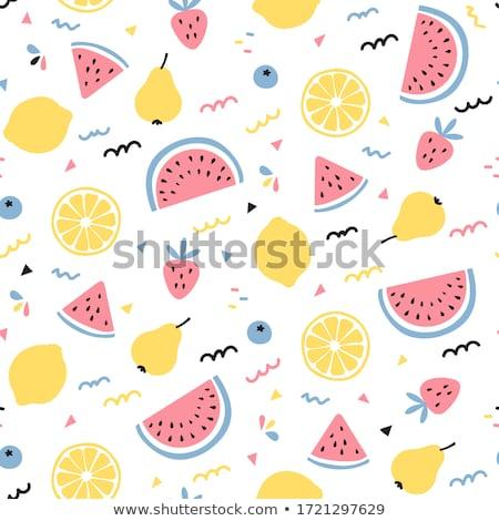 Minta friss gyümölcs keverék gyümölcsök egészséges étkezés diétázás Stock fotó © netkov1