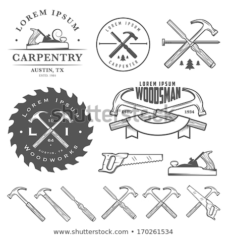 Carpentry tool,labels and design elements Stock photo © netkov1