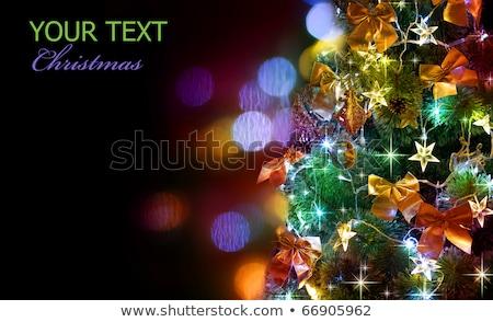 grinalda · luzes · vermelho · verde · azul - foto stock © dolgachov