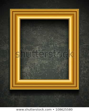 Wooden Rectangle Frame with Gold Stock photo © Voysla