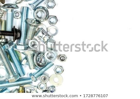 Screws on white background Stock photo © FER737NG