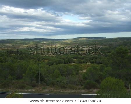 Corbieres, rural landscape in southern France Stock photo © LianeM