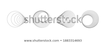 Abstract halftone template object. EPS 10 Stock photo © beholdereye