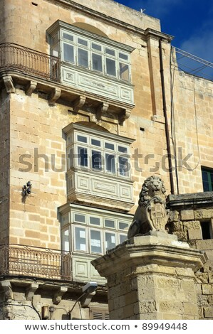 typical old house facade with balconies of an old traditional ho stock photo © meinzahn