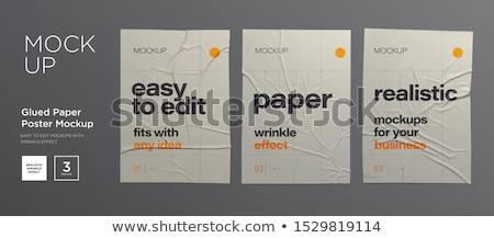 folded paper mockup vector design Stock photo © SArts
